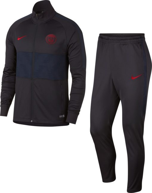 Nike Paris Saint-Germain Dry Strike Trainingspak 2019/2020 Heren - Oil Grey/Oil Grey/Obsidian/(University Red) - Maat L